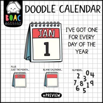 Doodle Calendar Clipart Calendar Numbers Calendar Doodles