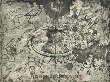 Materialism Etching Vintage World Maps Artist Vintage