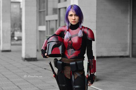 Starwars - Mandalorian by Kirchos on DeviantArt Nerd Costumes, Mandalorian Cosplay, Star Wars Sith, Female Armor, Steampunk Cosplay, Female Stars, Sci Fi, Deviantart, Superhero