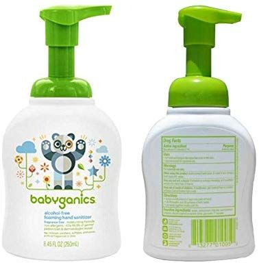 Amazon Com Babyganics Alcohol Free Foaming Hand Sanitizer