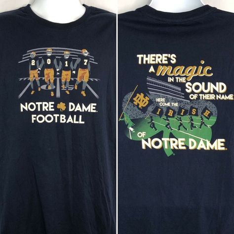 Notre Dame Football 2017 The Shirt T-Shirt Large True Fit Mens Magic In Sound #TheShirt #GraphicTee #Casual