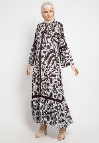 Gamis Etnik Dari Kamilaa By Itang Yunasz Biru And Multi Model Pakaian Desain Blus Gaun Lengan Panjang