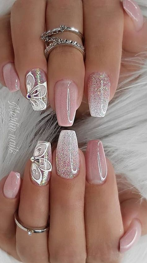 Really Cute Glitter Nail Designs! You Will Love This Part glitter nail a… Really Cute Glitter Nail Designs! You Will Love This Part glitter nail art;
