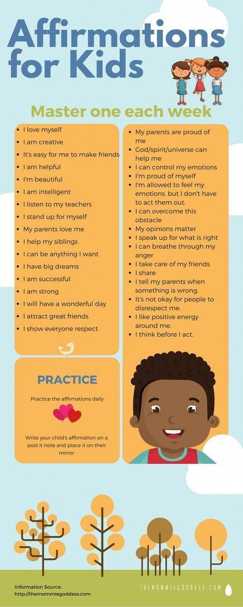 32 Affirmations For Kids Mindfulness Practices For Children Mindfulness Loa Affirmationsforkids Affirmations For Kids Mindfulness For Kids Smart Parenting