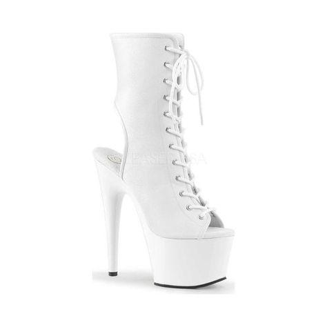 Delight-1016SK UV Platform Peep Toe Open Heel Front Lace Ankle Boot PLEASER