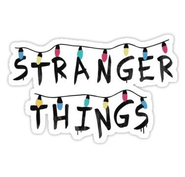 Stranger Things Fairy Lights Sticker By Monkey Products
