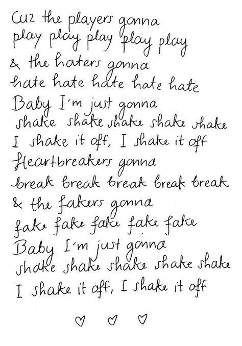 10 Shake It Off Lyrics Ideas Shake It Off Taylor Swift Lyrics Lyrics