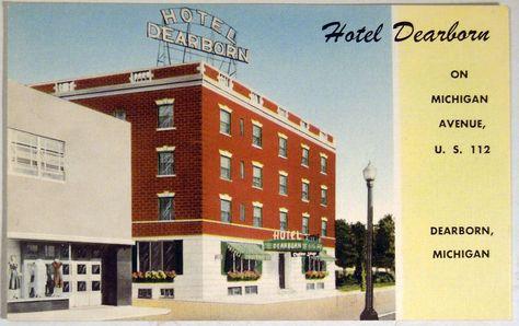 Hotel Dearborn On Michigan Avenue Dearborn Michigan Vintage 1940 S