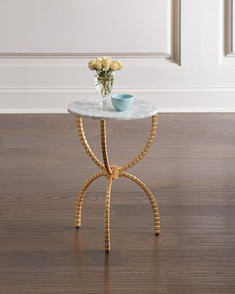 Pamella Gold Leaf Accent Table In 2020 Table Caracole Furniture