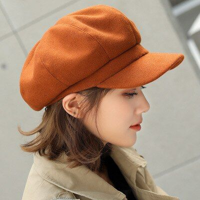 Baker Boy Hats Warm Hats Newsboy Cap Painter Cap Beret Hat Fedora Wool Caps