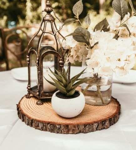 Rustic Bridal Shower Centerpieces Diy Wood Slices 65 Ideas Diy