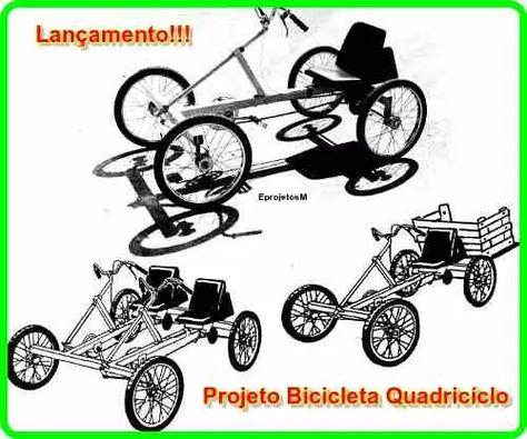 3 Projetos Bicicleta Quadriciclo Com Imagens Quadriciclo