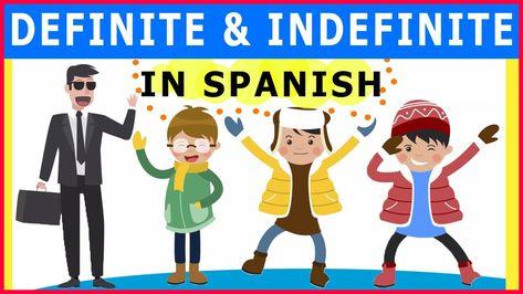Definite and indefinite articles in Spanish - When to use EL LA UN UNA in Spanish lesson 17