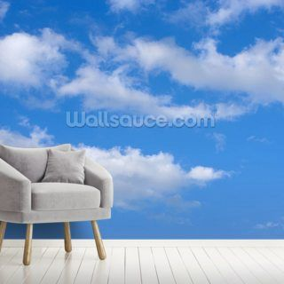 Blue Skies With Clouds Wallpaper Mural Wallsauce Au Mural Wallpaper Cloud Wallpaper Sky And Clouds