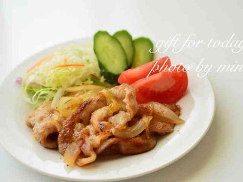 豚ロース薄切り 生姜焼き