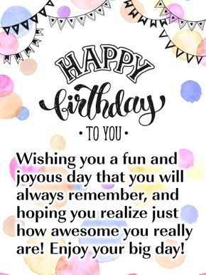 A Joyous Day Happy Birthday Card Birthday Greeting Cards By Davia Happy Birthday Quotes For Friends Friend Birthday Quotes Happy Birthday Greetings Friends