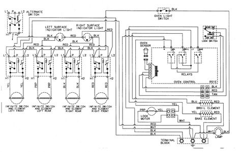12 electric stove switch wiring diagram