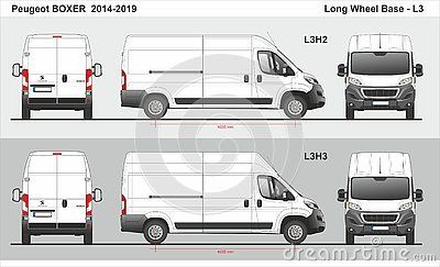 Peugeot Boxer Cargo Van Long Wheel Base L3h2 L3h3 2014 2019
