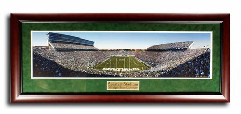 Framed Michigan Spartan Stadium Aerial Stadium Print Wall Art F7530A