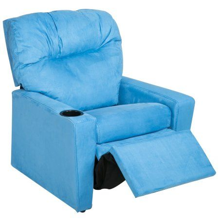 Harper Designs Kids Recliner With Cup Holder Fabric Sofa Chair For Child Recliningsofa Kids Recliners Fabric Sofa Reclining Sofa