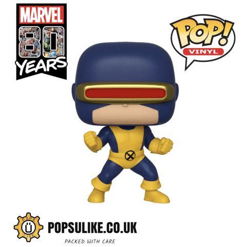 Cyclops Funko Pop Vinyl Marvel 80th Anniversary Cyclopspop Marvel Marvelfunko Marvelpop Funko Funkopopvinyl F Pop Marvel Marvel Figura De Acao