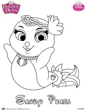 Free Princess Palace Pets Coloring Page Of Sandy Pearl Princess