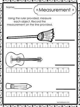 10 Printable Measuring With A Ruler Worksheets Kindergarten 1st Grade Math Measurement Worksheets First Grade Math Worksheets 2nd Grade Worksheets