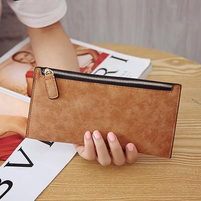 Women Ladies PU Leather Clutch Long Wallet ID Card Phone Holder Purse Handbag