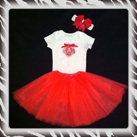 Pink and White Valentine Onesie and Tutu Set by AdorablebySarah, $30.00