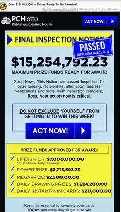 Pch i jcg claim publisher's clearing house TRANSFER OF FUNDS