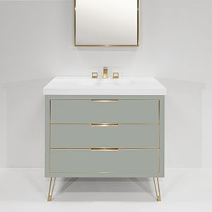 The Furniture Guild Contemporary Bathroom Vanity Bathroom