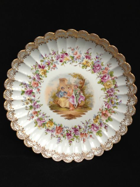 Meissen  Porcelain Bowl Plate Prunkteller Schale Marcolini
