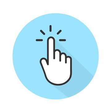 Clicking Finger Icon Hand Pointer On White Background Vector, Hand Icons, White Icons, Background Icons PNG and Vector with Transparent Background for Free Down… | Hands icon, Icon, Instagram logo