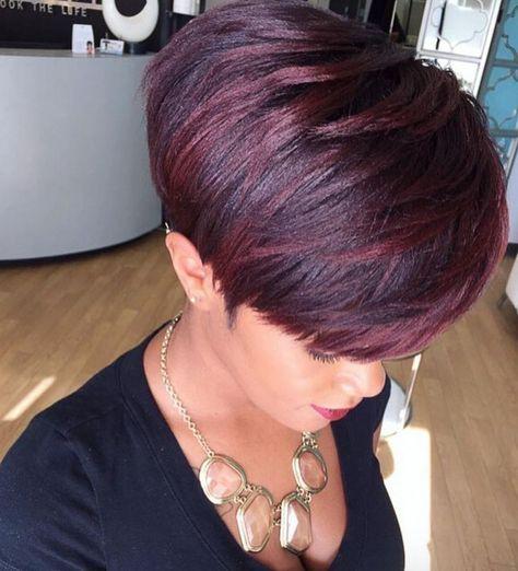 Short Haircuts: Gorgeous color via @salonpk  Read the article here  www.blackhairinfo
