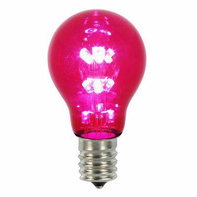 Vickerman 100 Watt Equivalent Pink E26 Led Light Bulb Wayfair In 2020 Light Bulb Led Replacement Bulbs Bulb