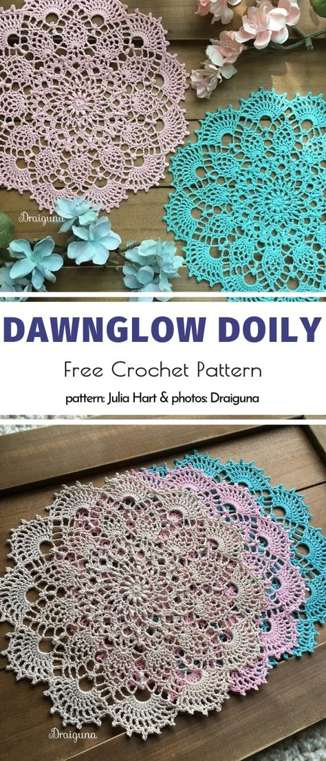 Amazing Crochet Doilies Free Patterns Dawnglow Doily Free Crochet Pattern Learn the rudiments of how Free Crochet Doily Patterns, Tatting Patterns, Lace Patterns, Crochet Designs, Free Crochet Patterns For Beginners, Mandala Crochet, Crochet Doily Diagram, Crochet Dollies, Crochet Gifts