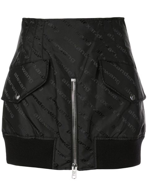 Shop online Alexander Wang logo cargo mini skirt for Discover new season items from the world's best luxury designer brands.