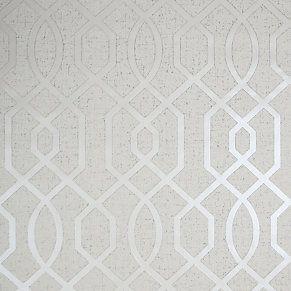 Goodhome Euclea Art Deco Silver Effect Textured Wallpaper Textured Wallpaper Wallpaper Art Deco