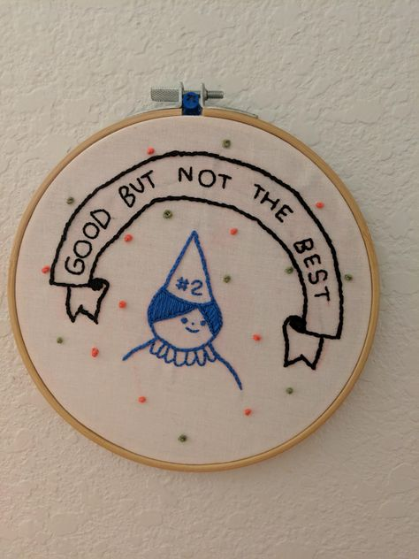 I did this piece about a year ago. It's art by Hiller Goodspeed, and I thought it would look nice on a hoop and easy eniugh for me to execute. Constructive criticism welcome :) : Embroidery Hand Embroidery Patterns, Diy Embroidery, Cross Stitch Embroidery, Cross Stitch Patterns, Crafty Craft, Cross Stitching, Needlework, At Least, Couture