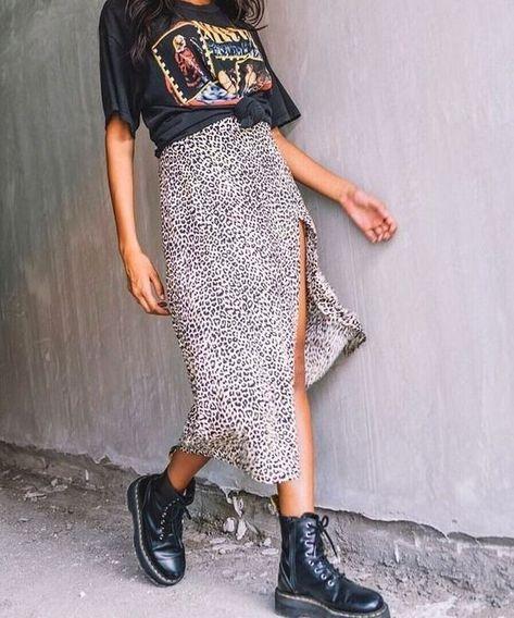 cheetah skirt outfit summer