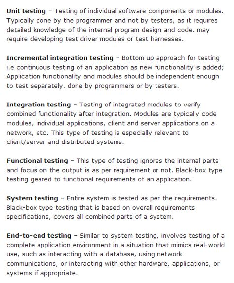 Types Of Software Testing Different Testing Types With Details