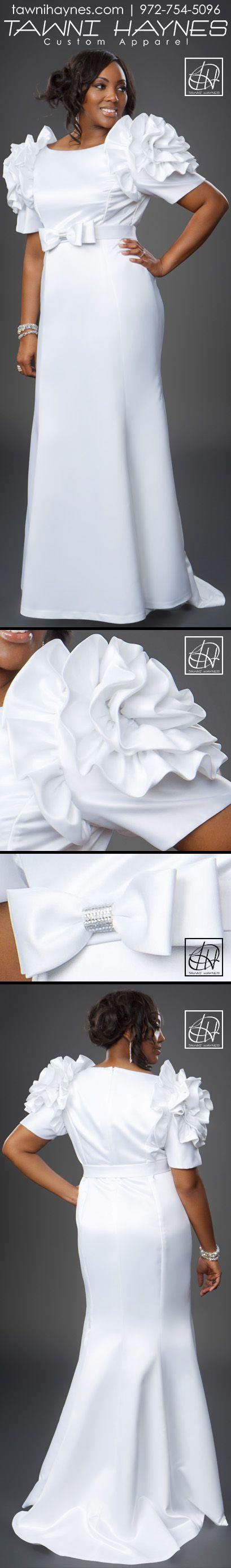 Tawni Haynes Rosette Shoulder Gown