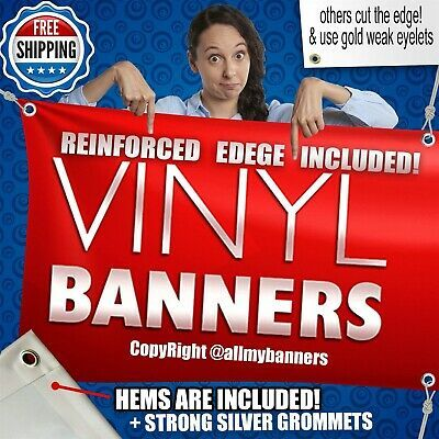Ad Ebay Url 4 X 7 Custom Vinyl Banner 13oz Full Color Free Design Included Vrdvrd Vinyl Banners Custom Vinyl Banners Custom Vinyl