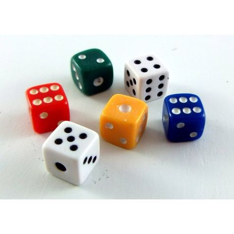Dollhouse Miniature Set of 6 Dice