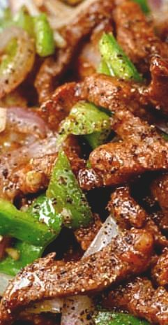 Black Pepper Chicken Stir Fry-Pepper Poultry Stir Fry menu is ridiculously easy to make with things that you curently have in your pantry. Fast, packed with flavour and best offere...