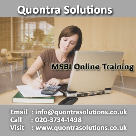 MSBI online training offered by Quontra Solutions with special - qtp resume