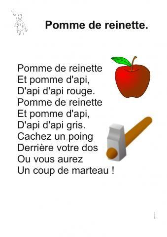 Pomme De Reinette Chanson Enfantine Chansons Pour Enfants