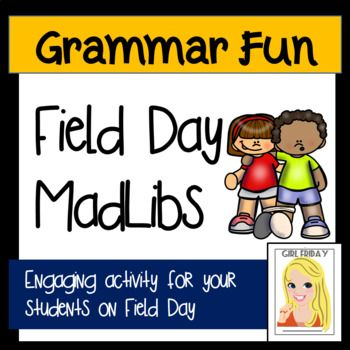 Field Day Madlibs Teacher Created Resources Grammar Resources Language Arts Lessons Field day worksheets