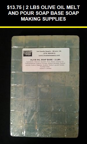 10 LBS OLIVE OIL MELT AND POUR SOAP BASE  SOAP MAKING SUPPLIES