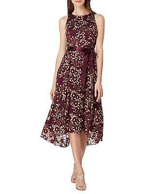 Tahari Arthur S Levine Embroidered Floral Ribbon Dress Embroidered Mesh Dress Fit Flare Dress Dresses